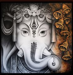 Rare Thoughts Art Gallery Lord Ganesha Painting