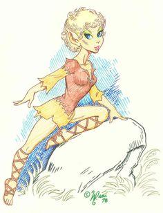 Dewshine from #Elfquest by Wendy Pini. www.elfquest.com