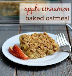 Apple Cinnamon Baked Oatmeal (use gluten free oats)