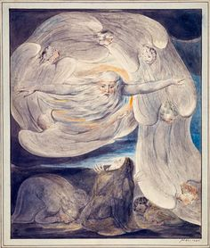 The Lord Answering Job from the Whirlwind by William Blake - print