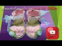 Tutorial: Sandalia- alpargata de bebé. De 0 a 3 meses - YouTube