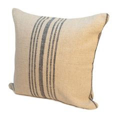 Reversible striped linen-blend pillow. Made in the USA.   Product: PillowConstruction Material: Linen, cotton and poly...