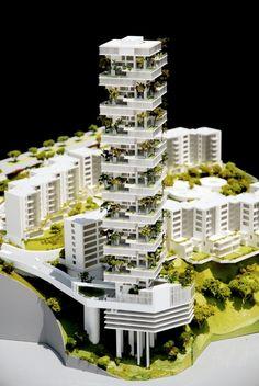 Image 9 of 27 Gallery Torre Cuajimalpa / Meir Lobaton Corona + Kristjan Donaldson. Green Architecture, Futuristic Architecture, Concept Architecture, Sustainable Architecture, Residential Architecture, Amazing Architecture, Architecture Design, Arch Model, Facade Design