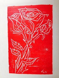 Rose - Xilografia