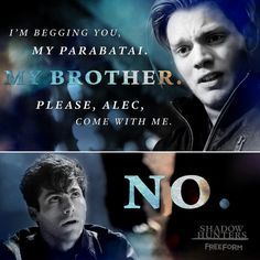 """S1 Ep9 """"Rise Up"""" - But.... they're parabatai.  #Shadowhunters"""
