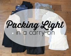 packing light in a carry-on