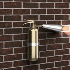 Creative Lamp Fire Extinguisher Shaped Wall Lamp Wall-Hanging Charging Light Lamp