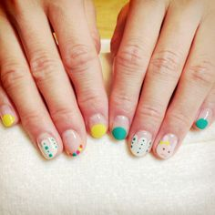 Cutesy and Artsy nails (with a little white bunny) #olivenailart