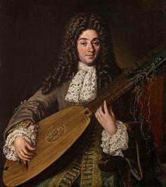 Paolo de Matteis (Salerno 1662–1728 Naples), Portrait of Petruccio, playing an archlute. Oil on canvas, 104.2 x 92 cm. Charles Beddington Ltd © TEFAF Maastricht, 2016