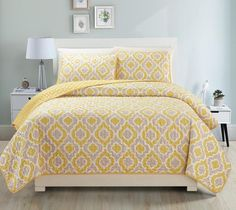 AMAZING PRINT DESIGN! 3 PCS QUILT BEDSPREAD SET QUEEN/KING/CAL.KING SIZE $40
