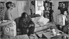 Sasquatch playing video games. TV film set. Maryland film photographer.