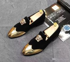 Men Top Designer Bullock Carve Patterns Gold Silver Casual Shoes Male Homecoming Dress Wedding Prom Sapato Social Party Shoes For Groom Casual Shoes Women Shoes From Vaion, $48.25  Dhgate.Com #promshoesgold