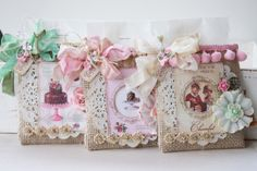 Treat burlap sacks, Sewing idea, Gift Packaging