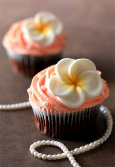 Frangipani Cupcakes by Bee'sKneesCreative, via Flickr