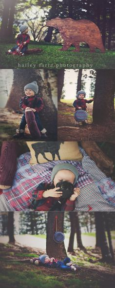 Lumberjack photoshoot, first birthday portraits, boy birthday theme, first birthday boy photo session, styled child session, costume for boy, toddler photo shoot ideas, dream compass styling