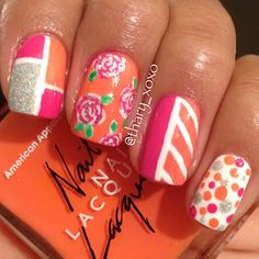 Mix & Match summer nails!  @thary_xoxo