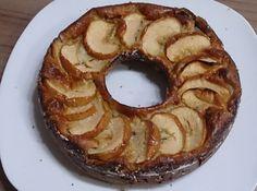 Bolo integral de maçã e banana