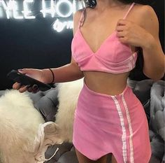 Find images and videos about girl, fashion and pink on We Heart It - the app to get lost in what you love. Fashion Killa, Girl Fashion, Fashion Outfits, Womens Fashion, Pink Outfits, Cute Outfits, Baby Doll Set, Jupe Short, Outfit Goals