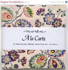 ON SALE 25 OFF Ala Carte by Sandy Klop American by FabricSweets