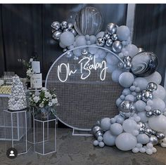 Boy Baby Shower Themes, Baby Shower Balloons, Baby Shower Gender Reveal, Birthday Balloons, Baby Shower Parties, Baby Boy Shower, Balloon Decorations Party, Balloon Garland, Birthday Party Decorations