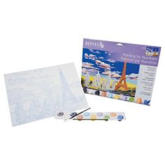 Reeves 12-Inch by 16-Inch Large Paint by Number Kit, Eiffel Tower Reeves http://www.amazon.ca/dp/B0058HXW4G/ref=cm_sw_r_pi_dp_Bc9tvb1NP5J4M