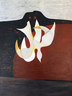 Bird over Red  60cm x 80cm  Acrylic on canvas