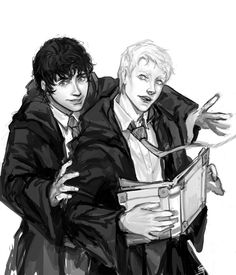 Scorpius and Albus Scorpius And Albus, Albus Severus Potter, Scorpius Malfoy, Harry Potter Draco Malfoy, Harry Potter Ships, Harry Potter Fan Art, Harry Potter Books, Harry Potter World, Drarry