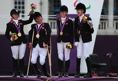 Wonderful picture of Britain's Paralympic Equestrian team! They won Gold in 2012 - but have attitudes changed?!
