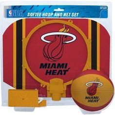 Rawlings NBA Slam Dunk Softee Hoop Set Miami Heat, Multicolor