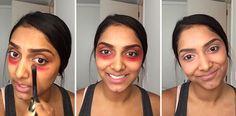 Dit is waarom je een rode lipstick nodig hebt om je wallen weg te werken | Fashionlab