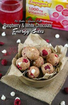 gluten free raspberry white chocolate bites