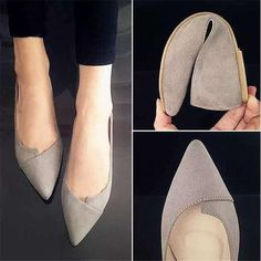 Suede Casual Comfortable Pointed Toe Flats – Simple Craze