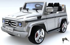 Magic Cars® Big Seater Mercedes Remote Control Electric Ride On G55 AMG G Wagon For Kids W/Benz Keys