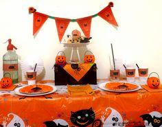 mesa infantil halloween