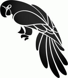 How to Draw a Tribal Parrot Step by Step Tribal Art Pop Culture . Bird Silhouette Art, Silhouette Painting, Bird Stencil, Stencil Art, Stencil Patterns, Stencil Designs, Pop Art Tattoos, Tattoo Art, Parrot Tattoo