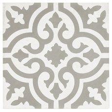 Equilibrio Gray Encaustic Cement Tile - 8 x 8 - 100566587 Bathroom Floor Tiles, Shower Floor, Kitchen Tiles, Wall Tiles, Kitchen Design, Tile Bathrooms, Oak Bathroom, Backsplash Tile, Dream Bathrooms