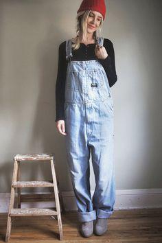 Vintage OshKosh B'Gosh Overalls Denim Vestbak by ThriftyMartUSA