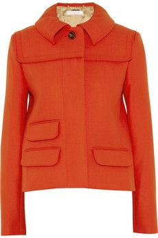 Chloé's smartly structured wool-crepe jacket is a chic way to work strong color. Tangerine is such an elegant hue that I can never get enough of it.