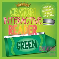 Green Crayon Interactive Reader - My Creative Kingdom