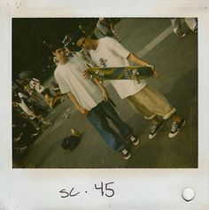 Polaroid from the shooting of Larry Clarke's 1994 Film Kids