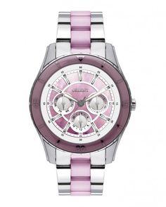 Relógio Multi-Função XIL Feminino - Prateado e Violeta