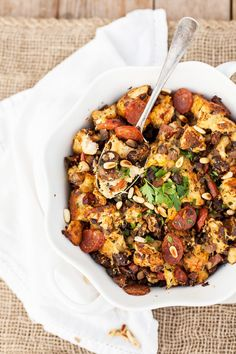 Herb, Chorizo, and Fig Stuffing