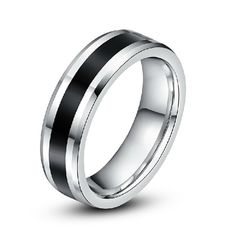 Simple Style Men's Cool Tungsten Ring Engravable Band For Men - USD $49.95