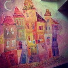 decorating job, Stray Cat hostel, Istanbul, by Negyessy Nedda