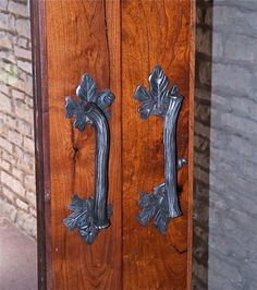 Custom Made Custom Iron Door Pull by Italian Iron Works