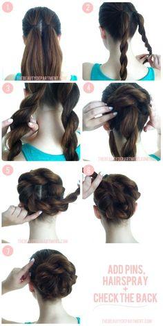 54 Mejores Imagenes De Peinados Vintage Hairstyle Ideas Hair Knot