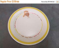 Year End Sale NOS Unused Aunt Jemima Paper Plates 1950u0027s by MayberryAntiques on Etsy & Vintage Mid Century Retro Serva-Plate Paper Plate u0026 Cup Holders ~ 11 ...