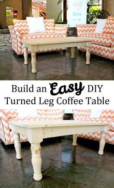 Easy DIY Turned Leg Coffee Table