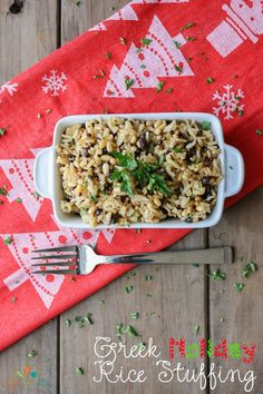 Greek Holiday Rice Stuffing | www.veggiesdontbite.com | #vegan #plantbased…