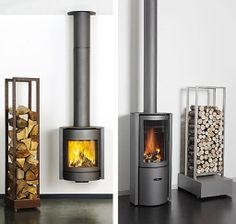 Modern Futuristic Wood Burning Stove Designs from Stuv minimalist wood